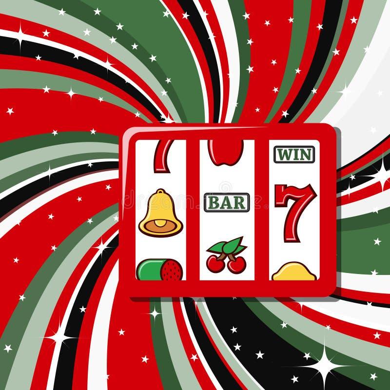 Positionnement de graphisme d'éléments de casino illustration libre de droits