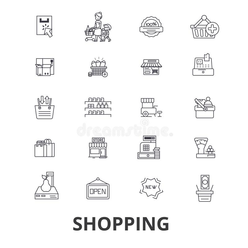Positionnement de graphisme d'achats illustration libre de droits