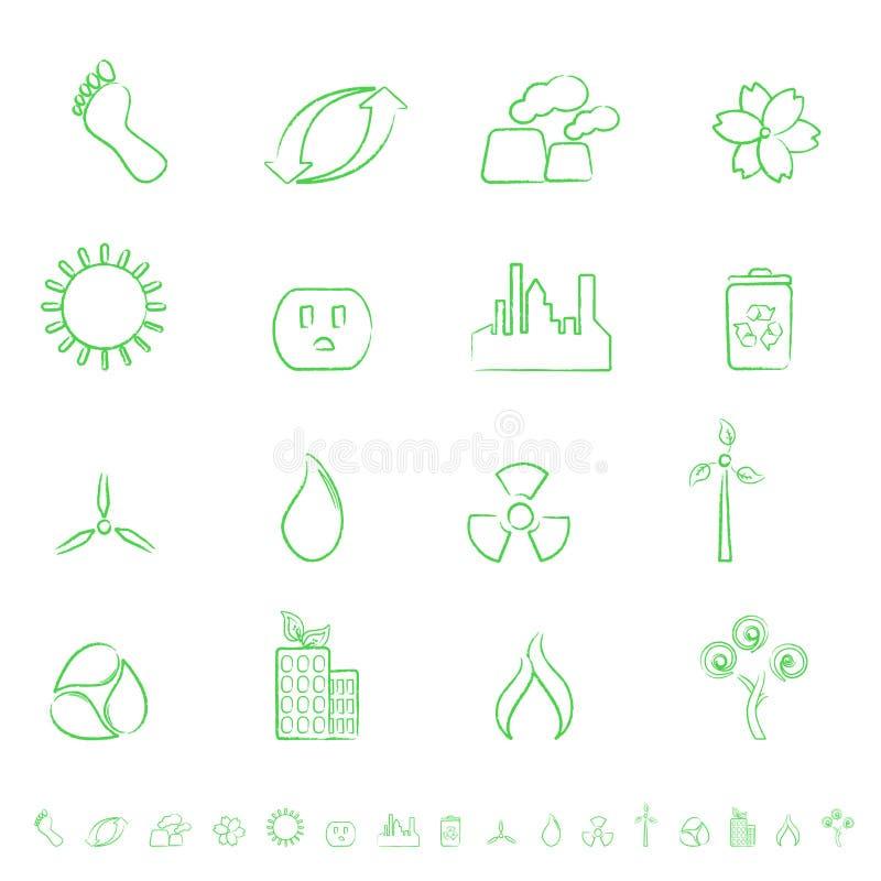 Positionnement de graphisme d'Eco illustration stock