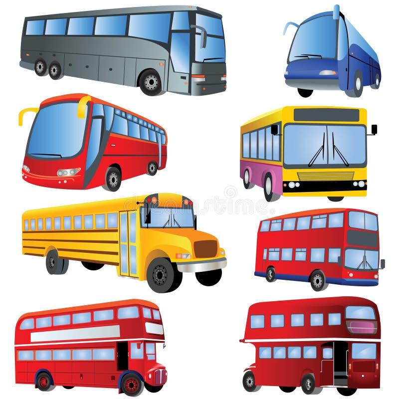 positionnement de graphisme de bus illustration de vecteur