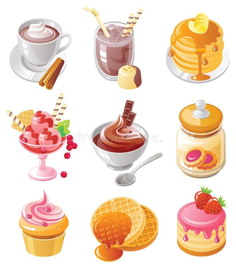 Positionnement de graphisme de dessert illustration stock