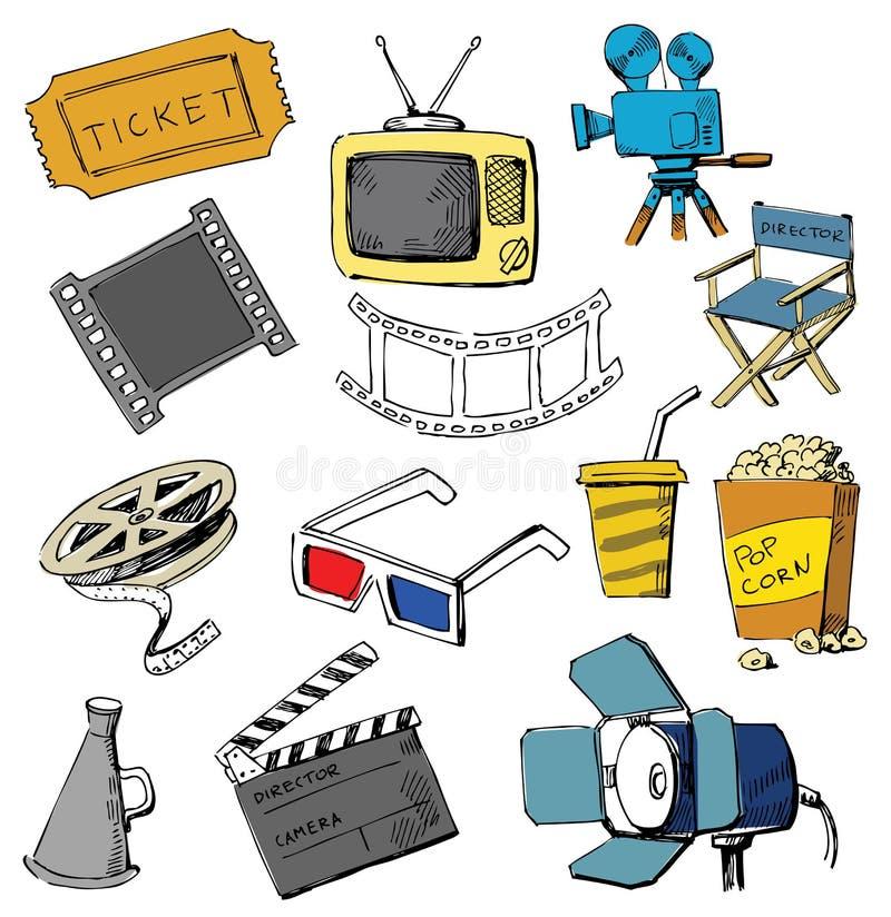 Positionnement de graphisme de film illustration libre de droits