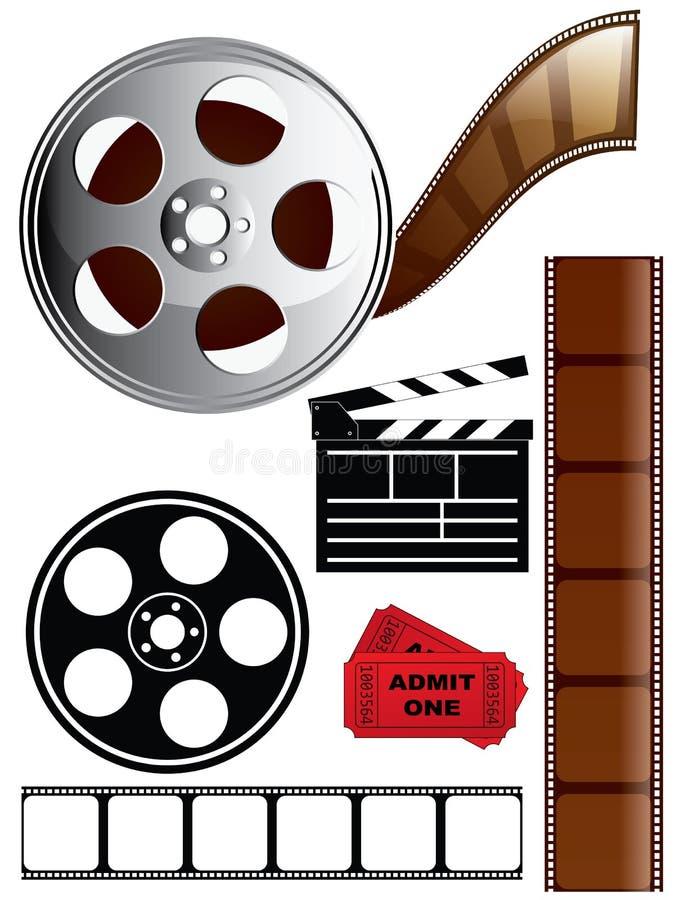 Positionnement de graphisme de film et de film illustration stock