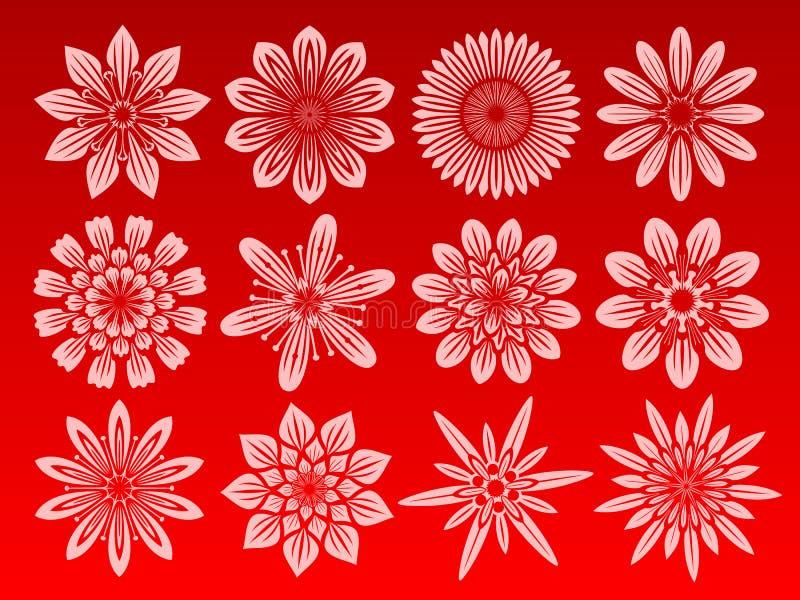 Positionnement de graphisme de fleur illustration libre de droits