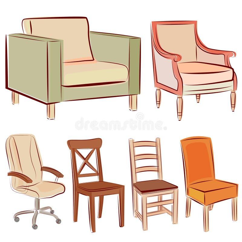 Positionnement de graphisme de meubles illustration libre de droits