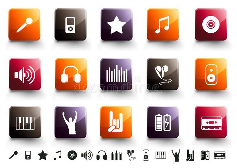Positionnement de graphisme de musique | À haute brillance chaud illustration de vecteur