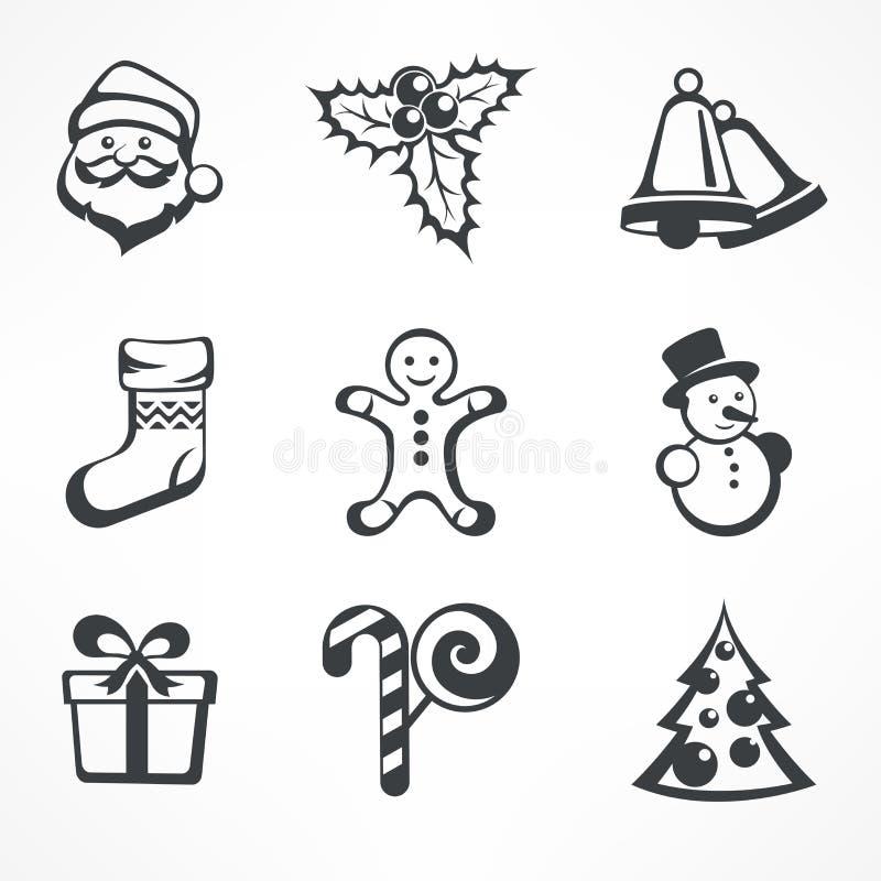 Positionnement de graphisme de Noël illustration de vecteur