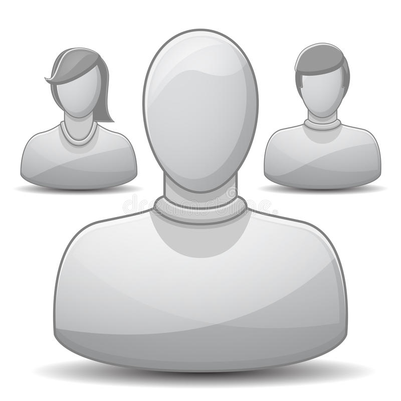 Positionnement de graphisme de profil illustration stock