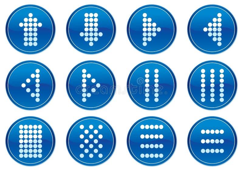 Positionnement de graphisme de symboles de matrice. illustration stock