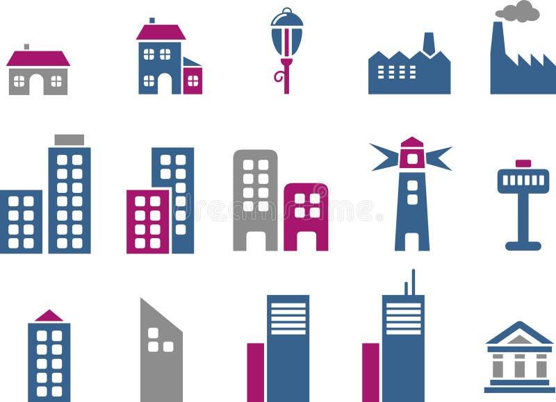 Positionnement de graphisme de ville illustration stock