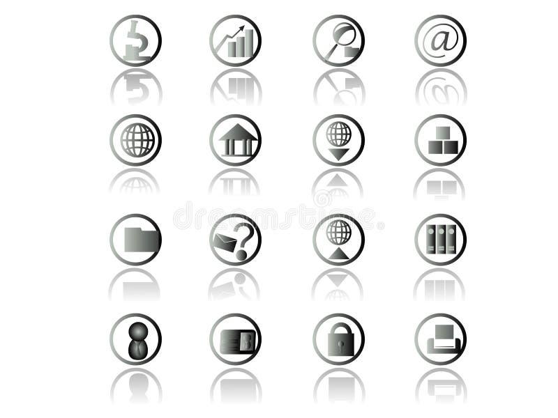 Positionnement de graphisme de Web illustration de vecteur
