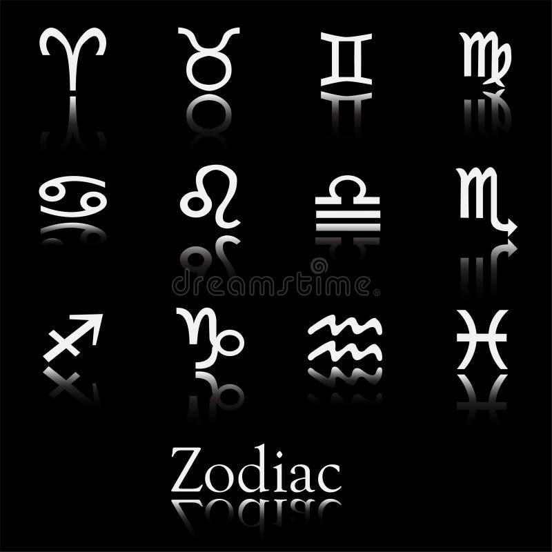 Positionnement de graphisme de zodiaque illustration stock