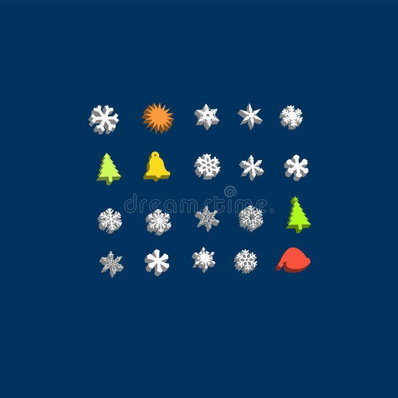 Positionnement de graphisme du copain 3d de Noël illustration stock