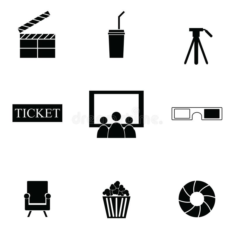 Positionnement de graphisme de film illustration de vecteur