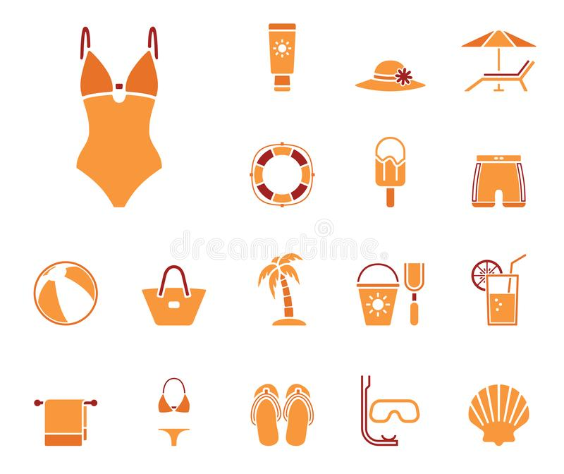 Positionnement de graphisme de plage illustration libre de droits