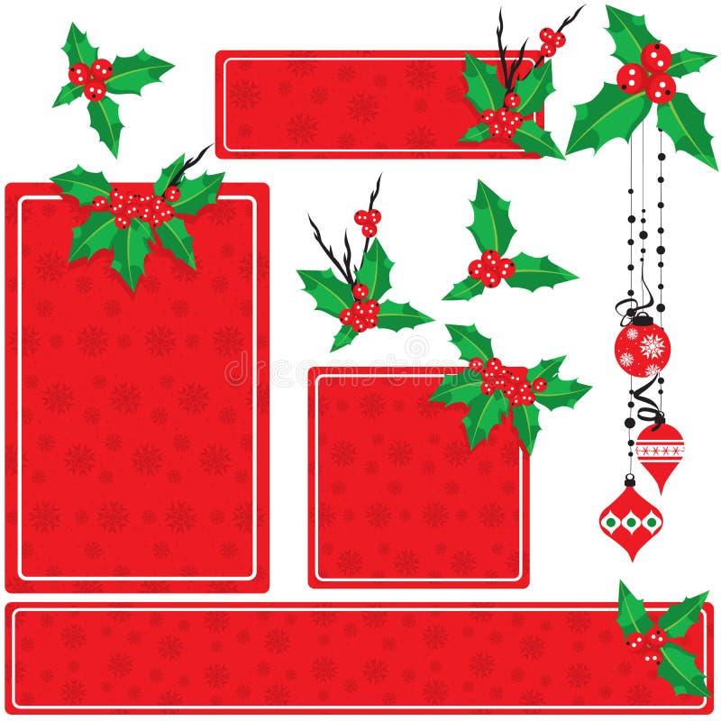 Positionnement de houx de Noël illustration stock