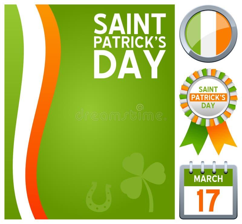 Positionnement de jour de St Patrick s illustration libre de droits
