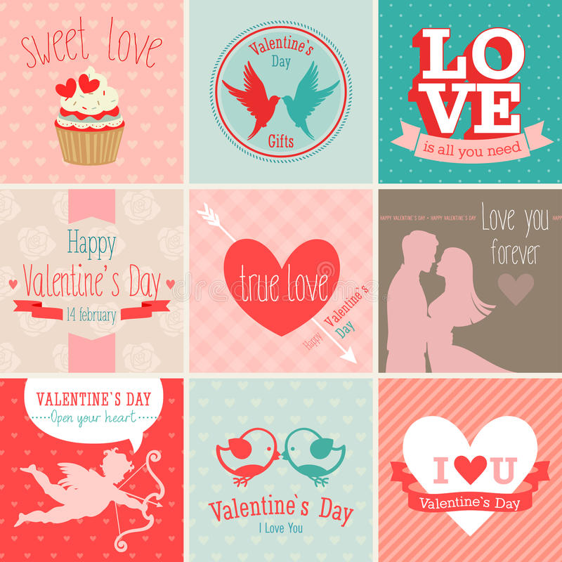 Positionnement de jour du ` s d'Alentine illustration stock