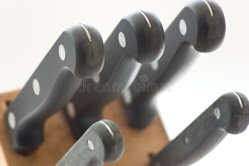 Positionnement De Knifes Photo stock