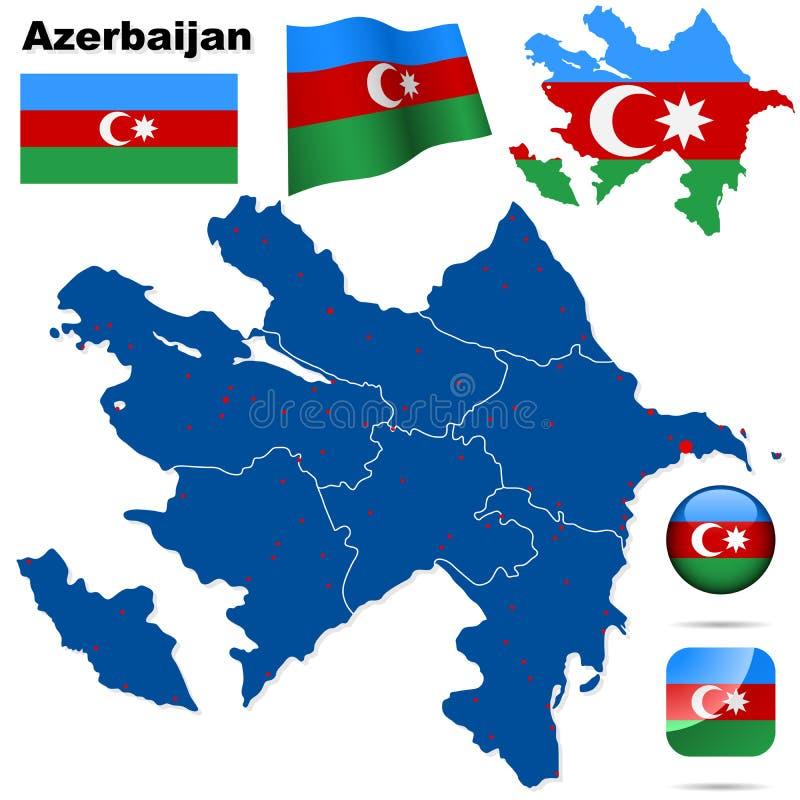 Positionnement de l'Azerbaïdjan. illustration de vecteur
