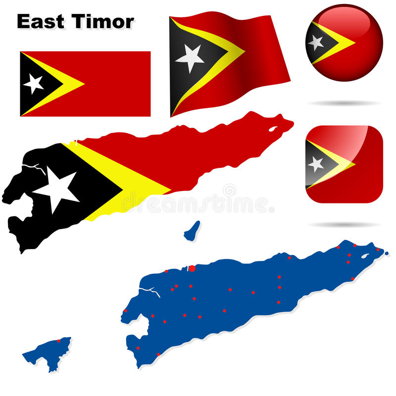 Positionnement de l'East Timor. illustration stock