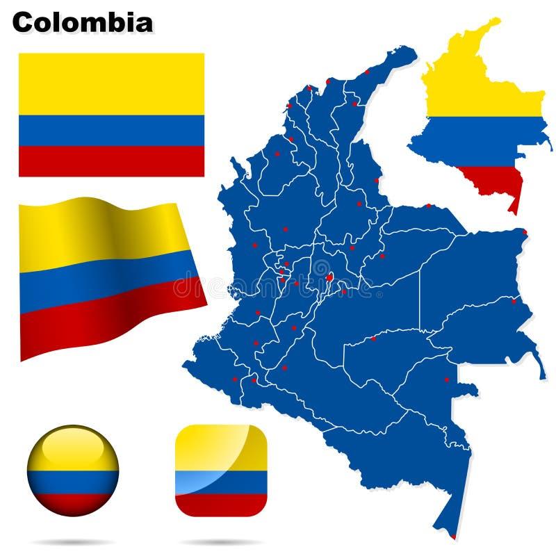 Positionnement de la Colombie. illustration stock