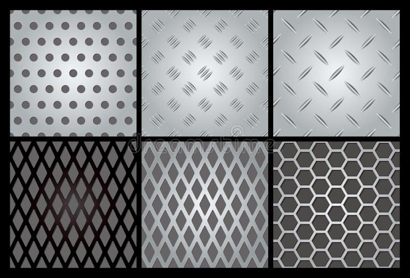 Positionnement de la texture 6 en métal illustration de vecteur