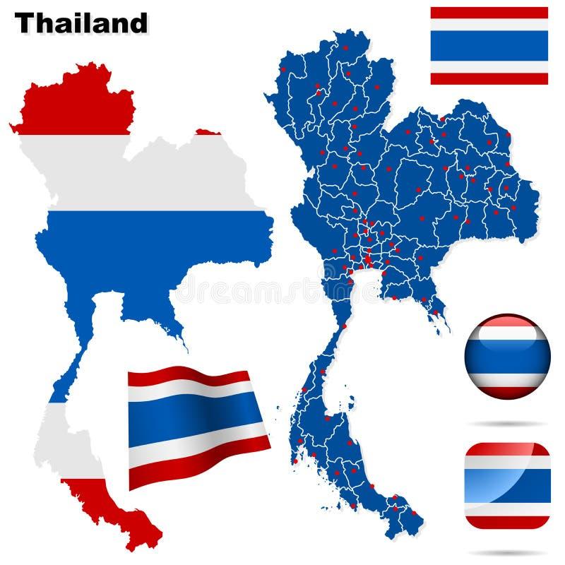 Positionnement de la Thaïlande. illustration stock