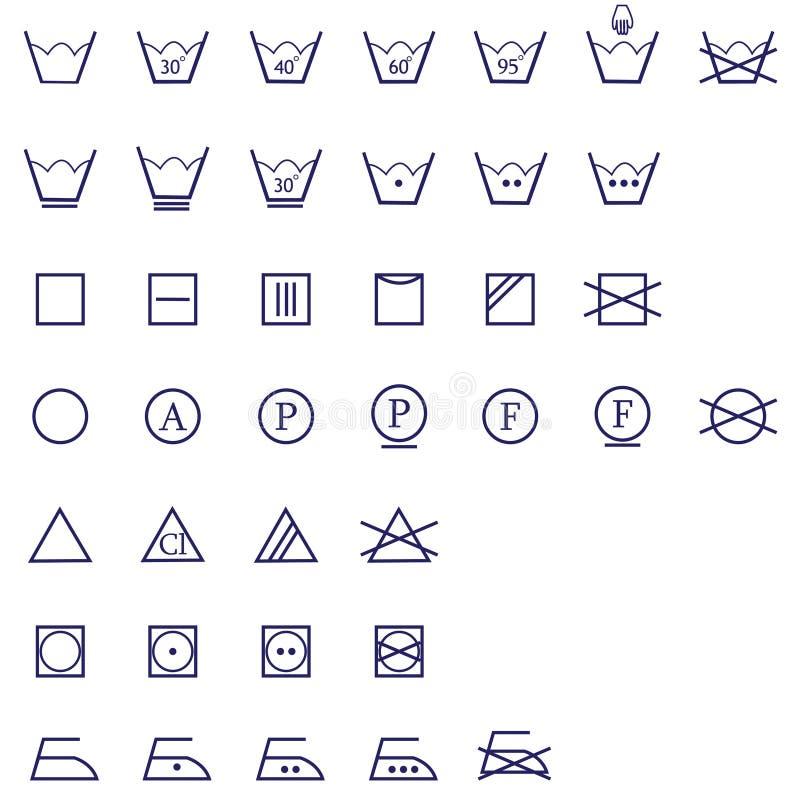 Positionnement de lavage de graphisme de signes illustration de vecteur