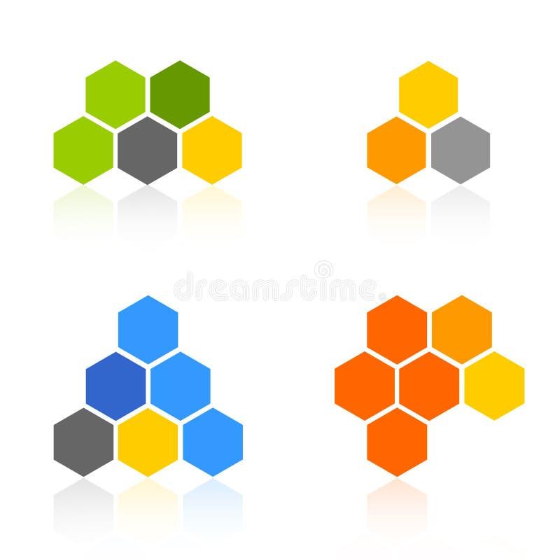 Positionnement de logo illustration libre de droits
