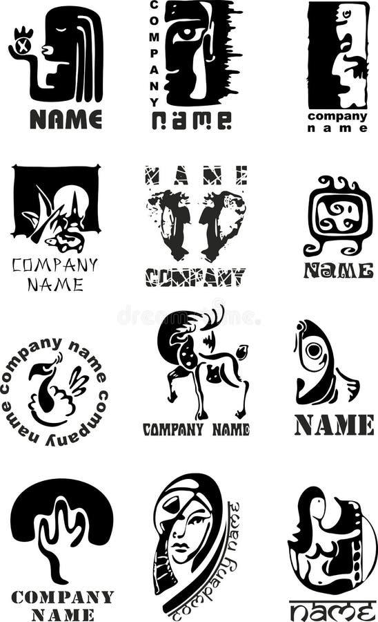 Positionnement de logo illustration stock