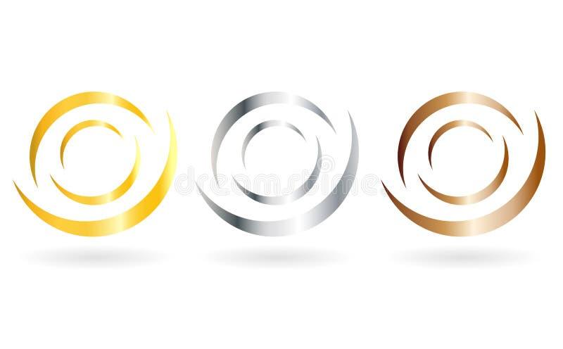 Positionnement de logo d'étiquette illustration de vecteur