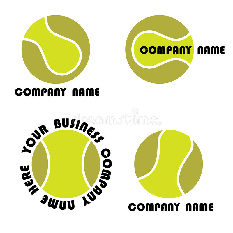 Positionnement de logo de tennis illustration stock