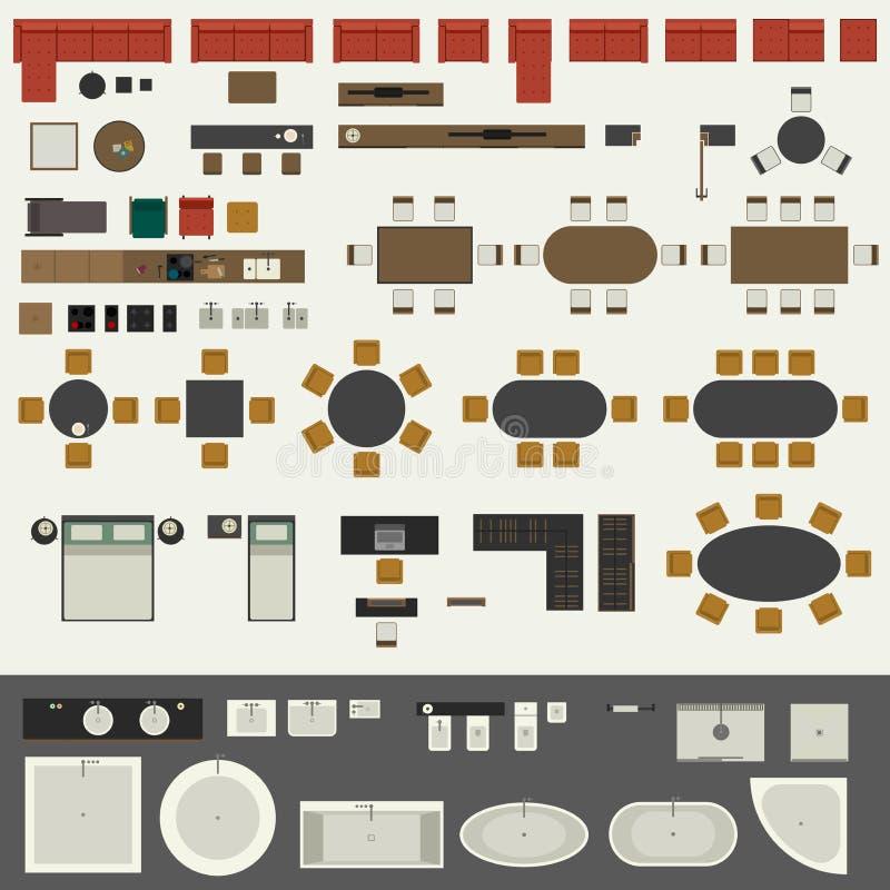 Positionnement de meubles illustration stock