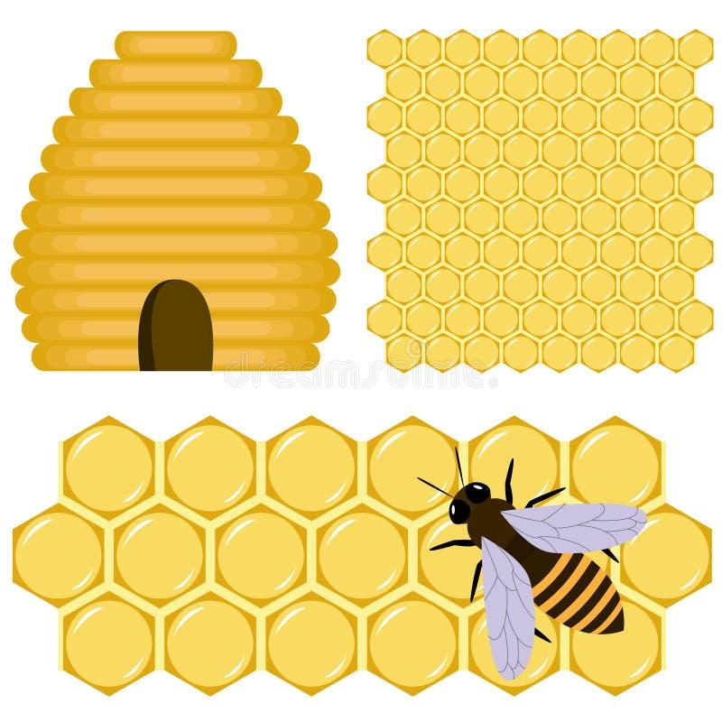 Positionnement de miel illustration libre de droits