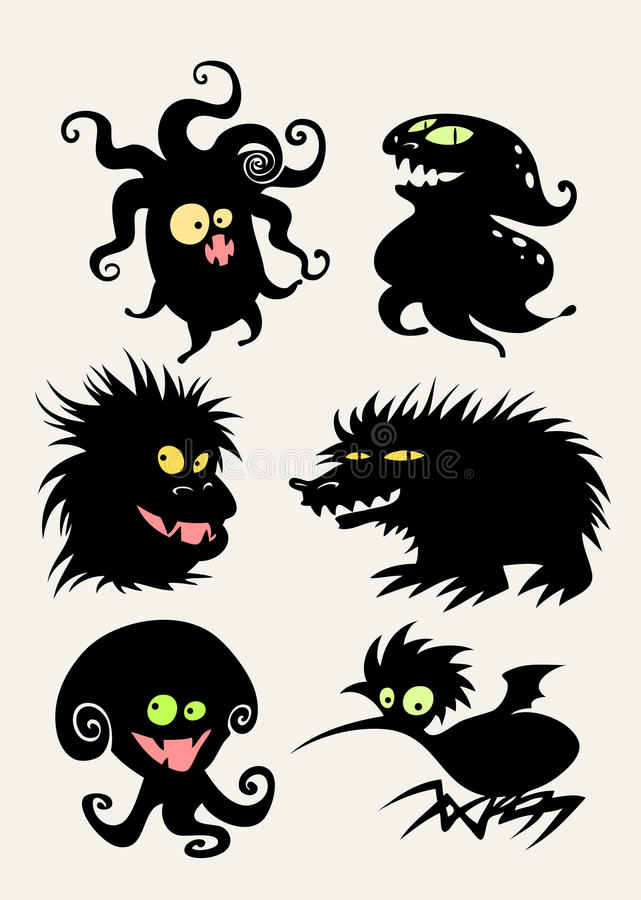 Positionnement de monstre illustration stock