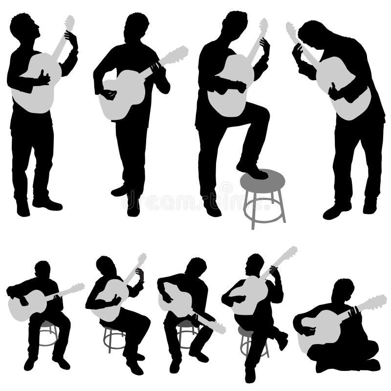 Positionnement de musicien illustration libre de droits