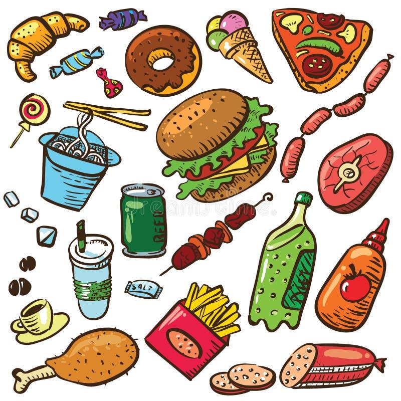 Positionnement de nourriture illustration stock