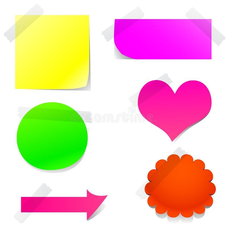 Positionnement de papier de note illustration de vecteur