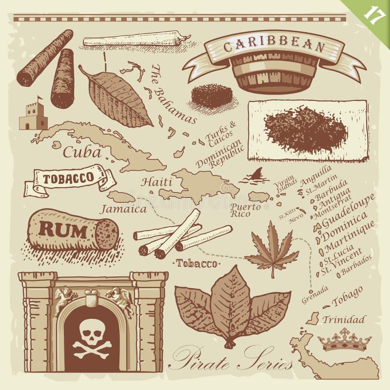 Positionnement de pirate illustration stock