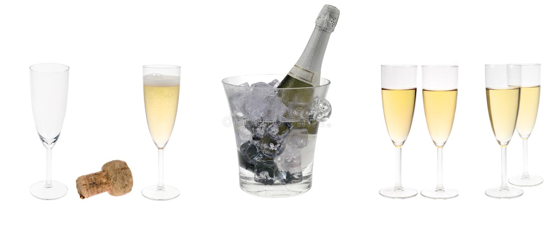 Positionnement de réception de Champagne photographie stock libre de droits