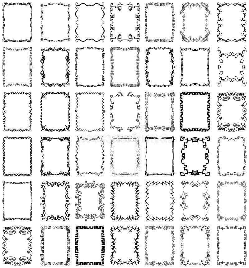 Positionnement de ramassage de trames et de cadres de vecteur illustration de vecteur