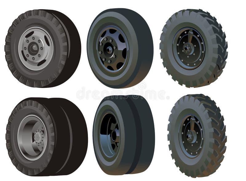 Positionnement de roues de camion illustration de vecteur