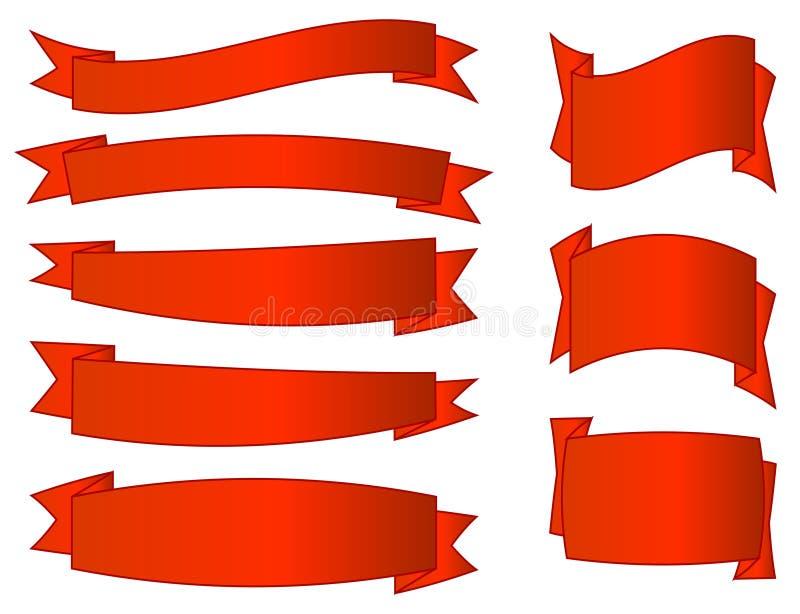 positionnement de rouge de drapeaux illustration stock