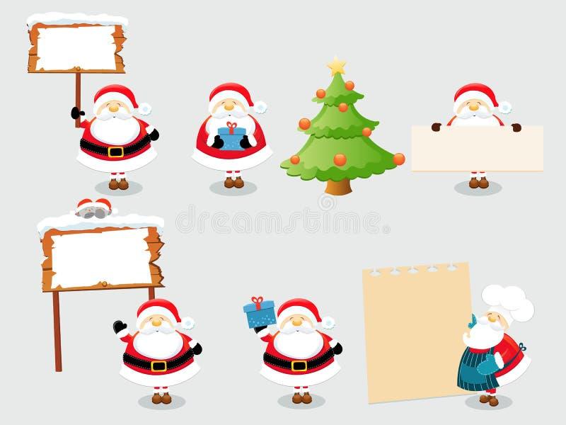 Positionnement de Santa illustration de vecteur