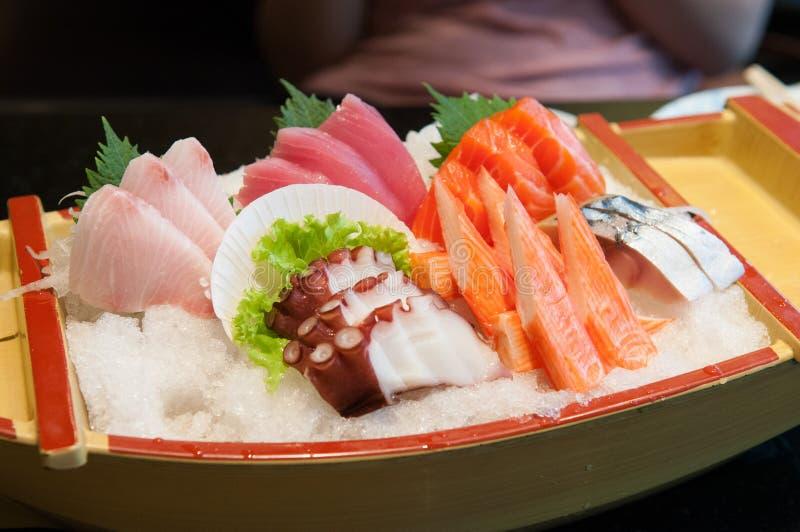Positionnement de sashimi photographie stock