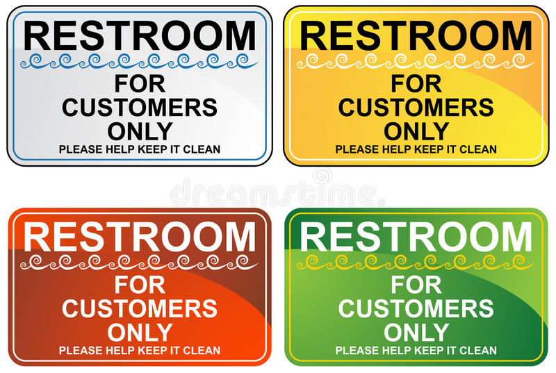 Positionnement de signe de toilettes illustration stock