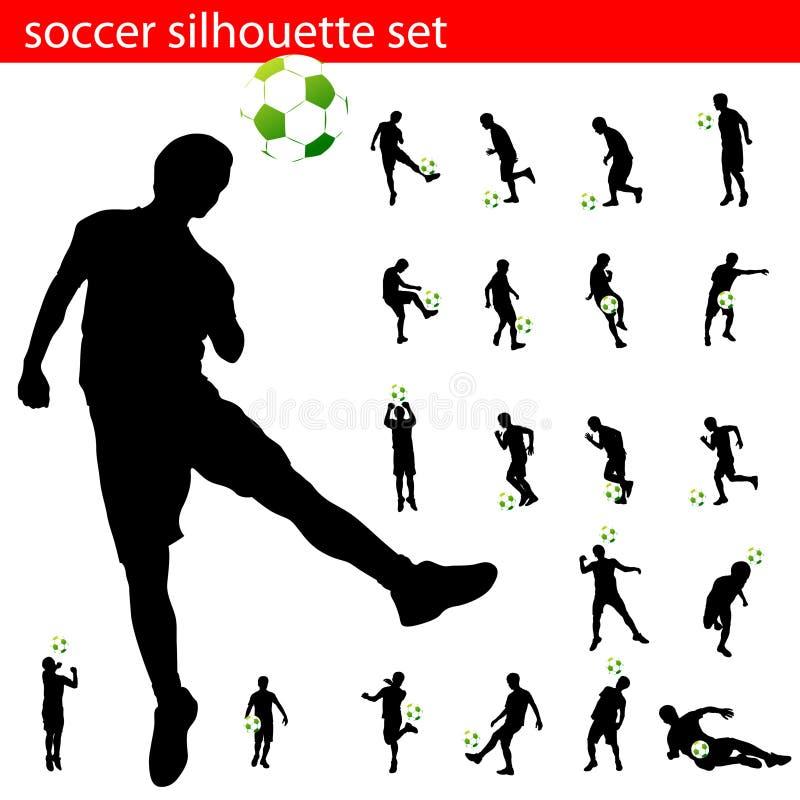 Positionnement de silhouette du football de vecteur illustration de vecteur