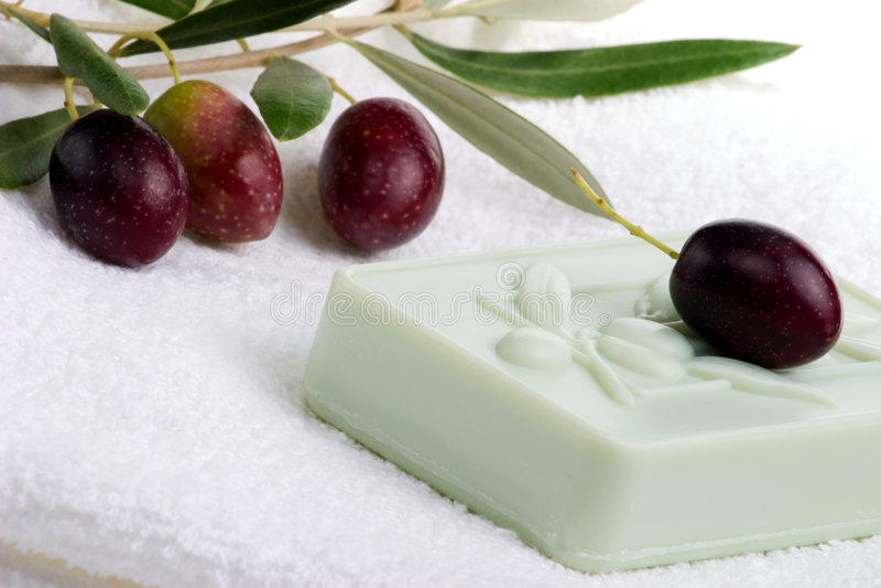 Positionnement de station thermale de savon images stock