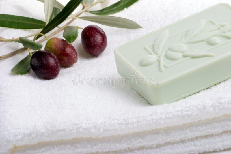 Positionnement de station thermale de savon image libre de droits
